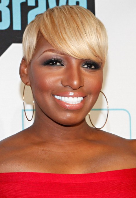 NeNe Leakes Short Blonde Bob Hairstyle