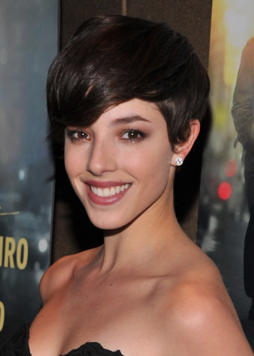 Olivia Thirlby Layered Short Pixie Cut with Bangs