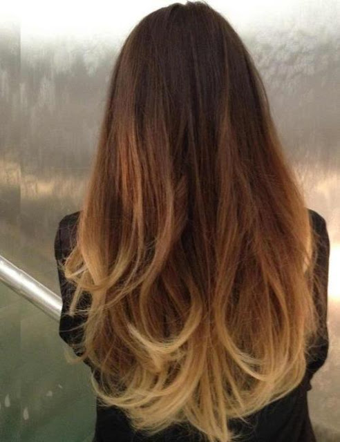 The ombre color enhances the luxuriousness of this natural free