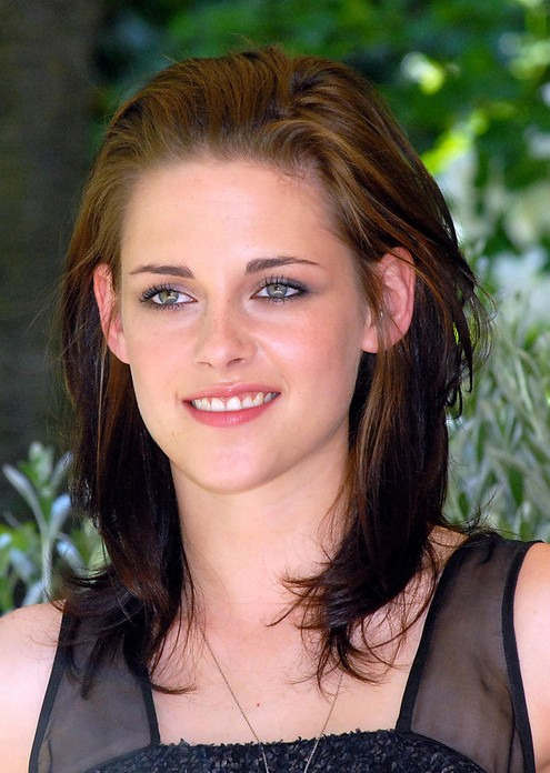 Ombre Medium Length Layered Hairstyle from Kristen Stewart ...