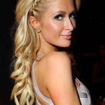 Paris Hilton Cute Long Blonde Braided Hairstyle
