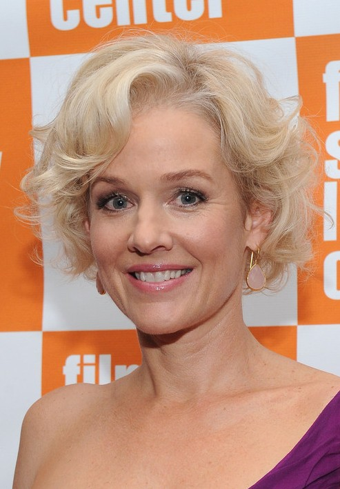 Penelope Ann Miller Layered Short Curly Hairstyle 2013