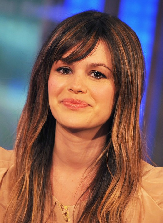 Rachel Bilson Long Straight Hairstyle with Wispy Bangs