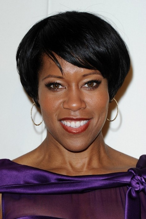 Regina King Short Hairstyle Chic Black Hairstyle With