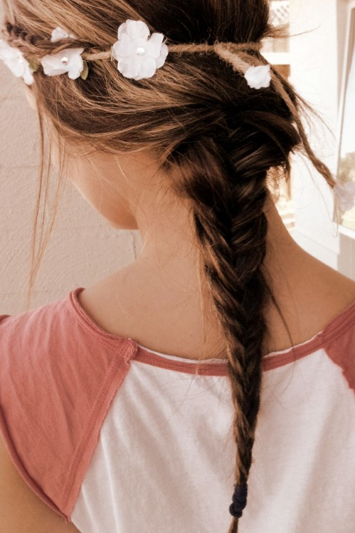 Romantic 2 Strand Braid Hairstyle for Girls
