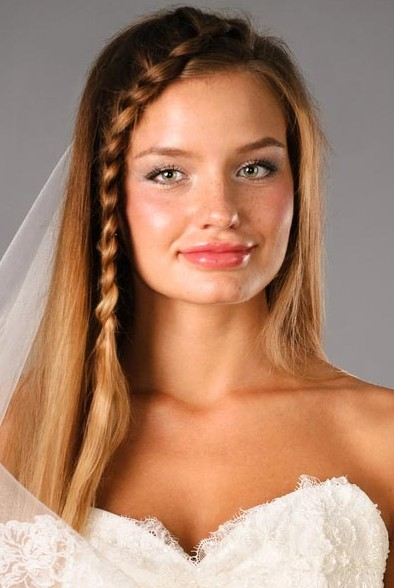 Romantic Side Braid for Wedding