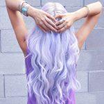 Sexy Long Purple Wavy Hairstyle