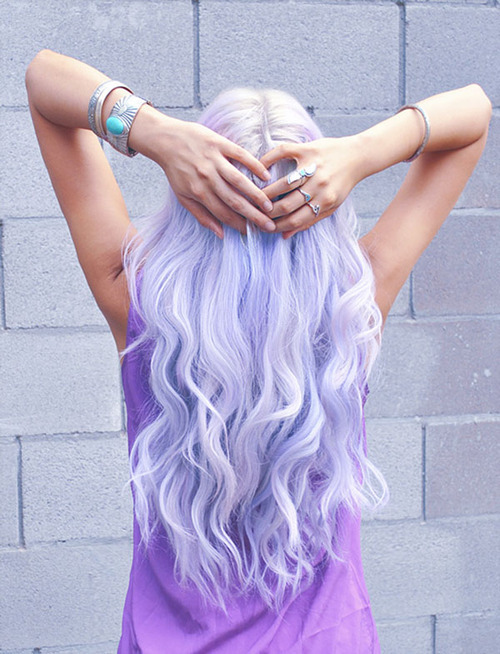 Sexy Long Purple Wavy Hairstyle
