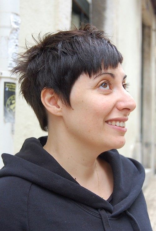 Short Dark Quirky Haircut
