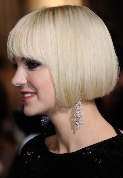 Miraculous Anna Faris Short Bob Haircut Platinum Blonde Bob Cut Hairstyles Short Hairstyles Gunalazisus