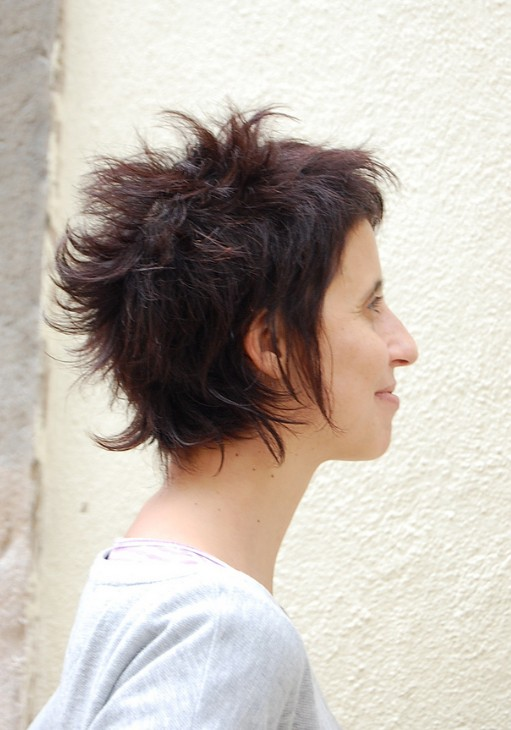 Hairstyle for short thick hair female