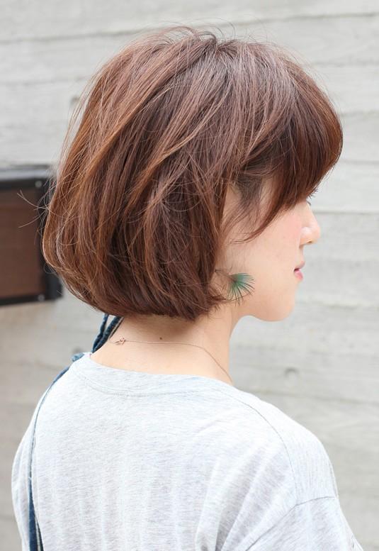 Enjoyable Side View Of Short Messy Bob Hairstyle Hairstyles Weekly Short Hairstyles For Black Women Fulllsitofus