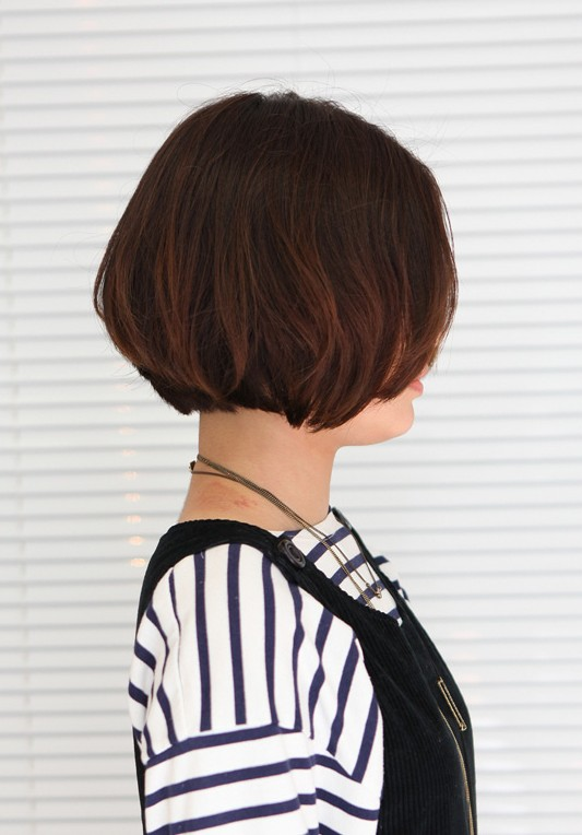 Korean Hairstyle 2013 Pretty Center Parted Bob Haircut
