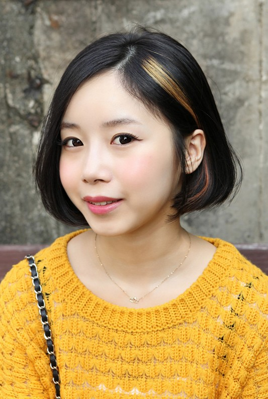 Sweet Asian A-line Bob Hairstyle for Girls