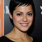 Sylvia Brindis Short Sleek Black Pixie Cut