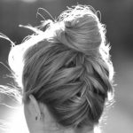 Upside Down French Braid Bun Hairstyle