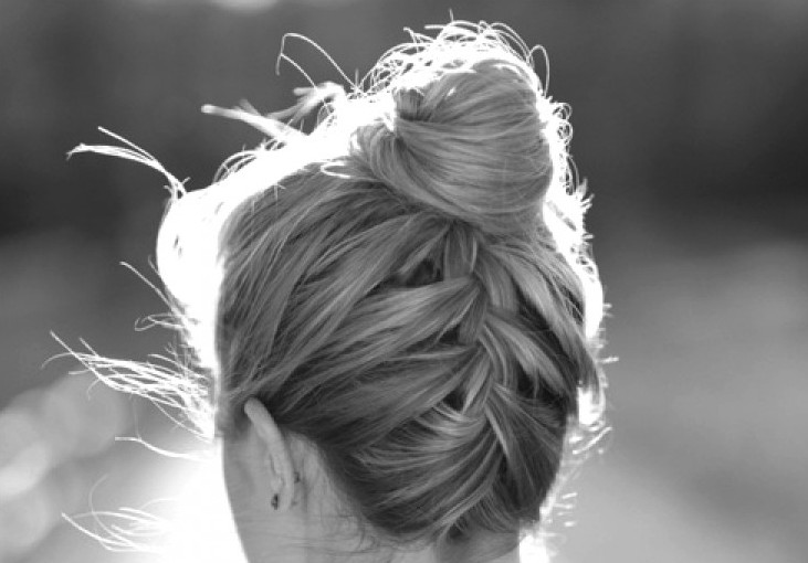 Upside Down French Braid Bun Hairstyle Hairstyles Weekly