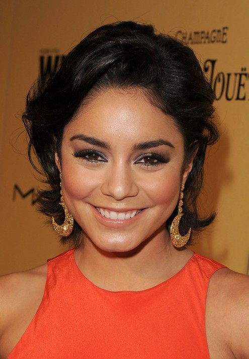 Vanessa Hudgens Short Black Flip Hairstyle