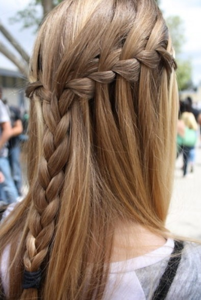 Waterfall Braid for Girls