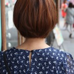 Back View of Cute Korean Bob Haircut K-Pop hairstyles