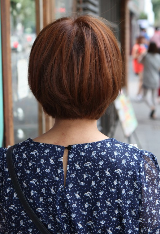 Back View of Cute Korean Bob Haircut – K-Pop hairstyles
