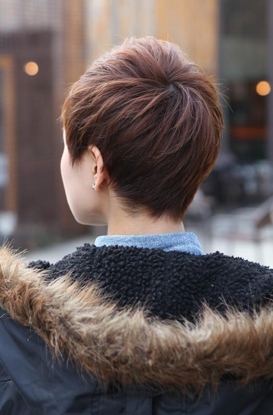 Astounding Back View Of Short Layered Boyish Cut 2013 Pixie Cut Short Hairstyles For Black Women Fulllsitofus
