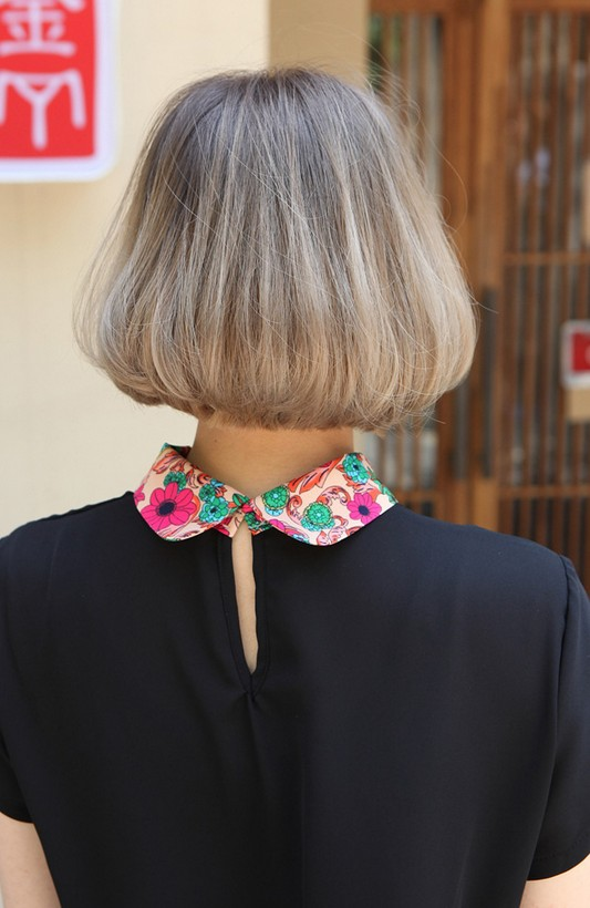Back View of Trendy Medium Length Bob Cut - Japanese Hairstyles ... Backview