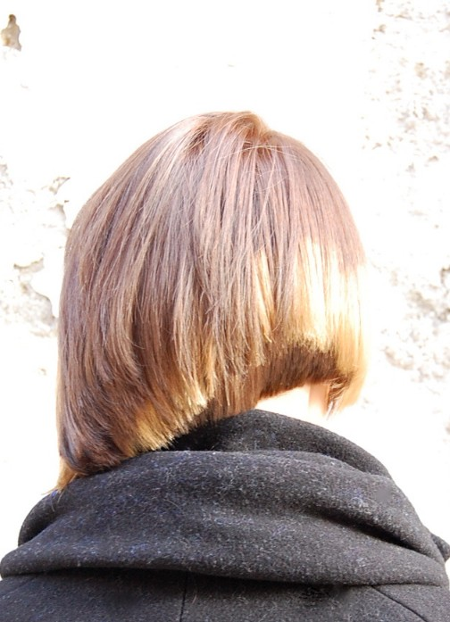 Side View of Trendy Short Straight Haircut Back View of Trendy Short ...