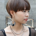Boyish Short Haircut with Blunt Bangs - Asian Hairstyles 2013