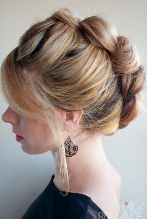 Groovy Braid Hawk Updo Hairstyle For Women Hairstyles Weekly Short Hairstyles Gunalazisus