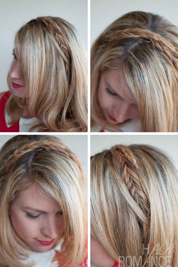 Summer Braids: Fishtail Headband - Fishtail Braid Headband Hairstyle