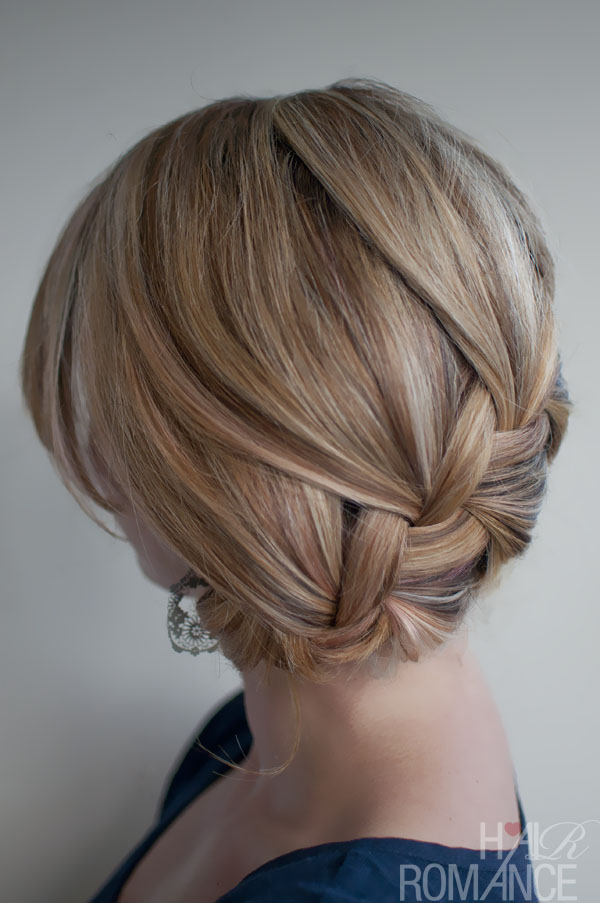 Clic French Braid Updo Loose For Prom