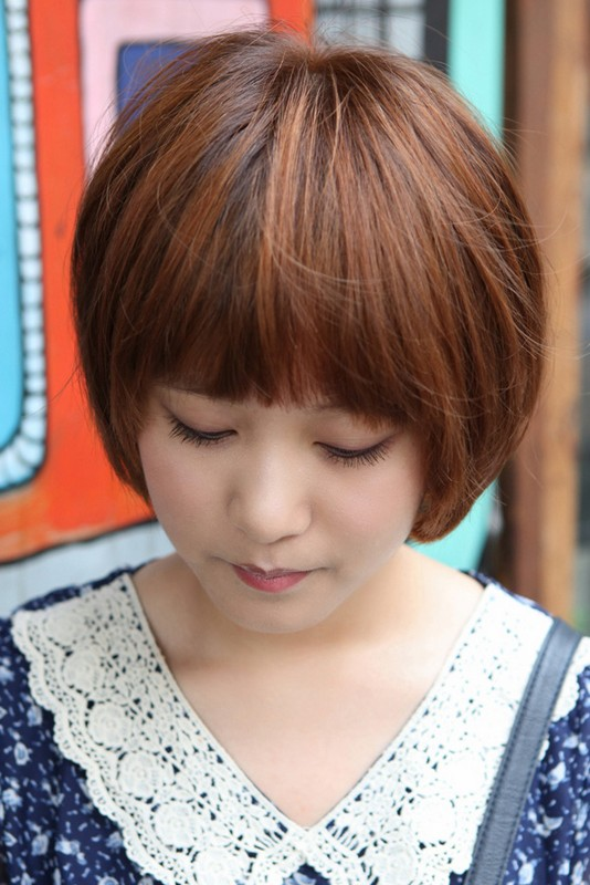 ... Korean Bob Hairstyle with Blunt Bangs – Latest Korean Hairstyles