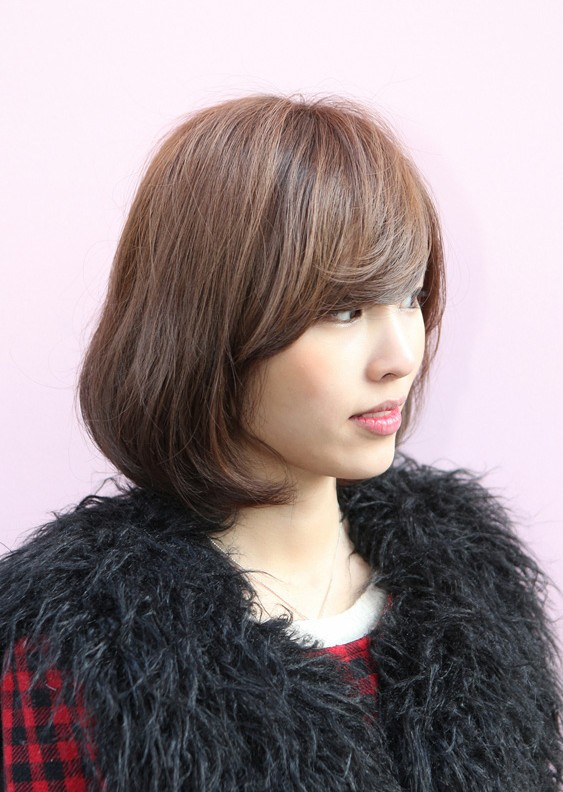 Messy Medium Bob With Long Sexy Fringe Simple Easy