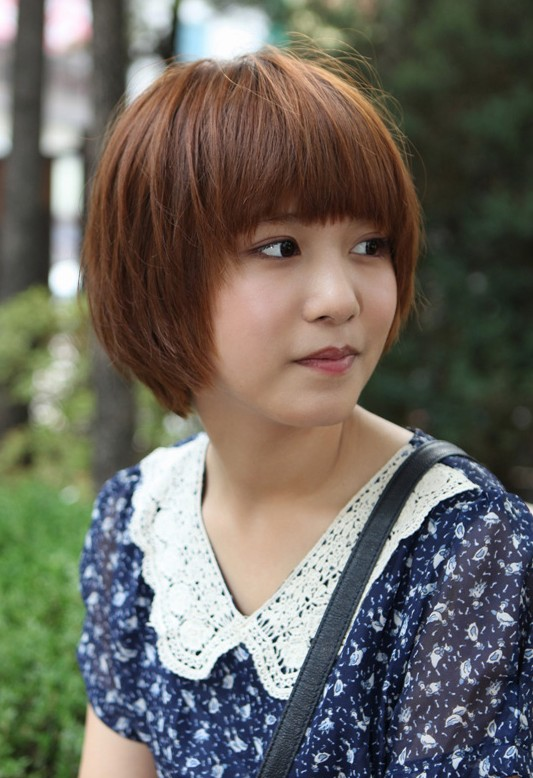 Stupendous Cute Short Korean Bob Hairstyle Asian Hairstyles Hairstyles Weekly Short Hairstyles For Black Women Fulllsitofus