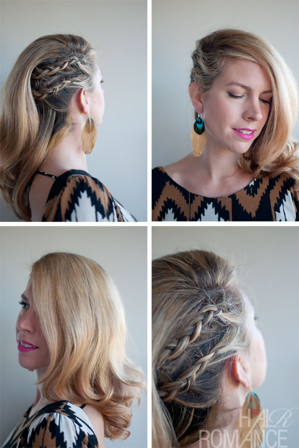 Deep Side Parted Faux Undercut Cornrow Comb Over Braid Hairstyles