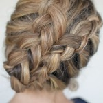 Double Dutch Diagonal Braids - Romantic Braided Updo for Wedding