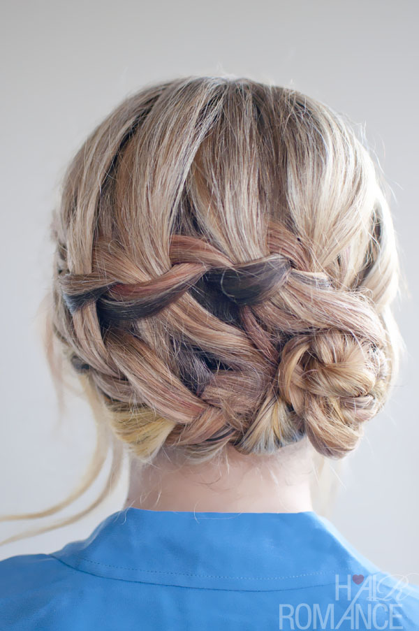 Braided hairstyle inspirations the double waterfall braid updo