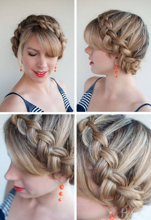 Dutch Crown Braid Updo - Romantic Braided Updo