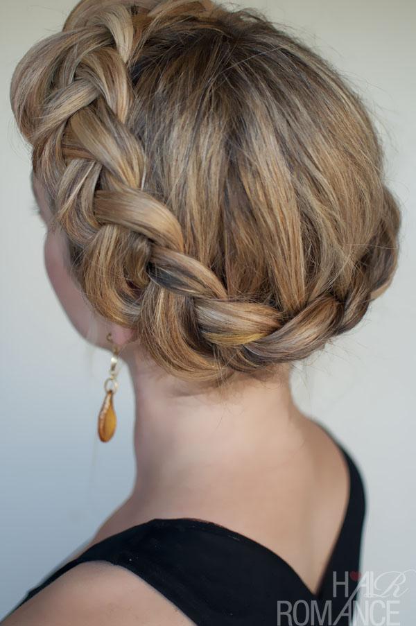 Wondrous Dutch Crown Braid Simple Casual Dutch Braid Updo Hairstyles Weekly Short Hairstyles For Black Women Fulllsitofus
