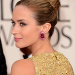 Emily Blunt Sleek Bun 2013 - 2013 Golden Globe Awards Hairstyles