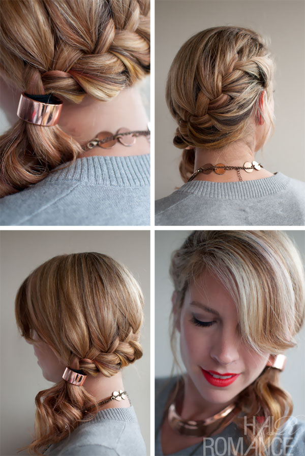 Stupendous How To Do A Side French Braid With Ponytail Braids Short Hairstyles For Black Women Fulllsitofus