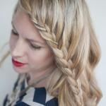 French Lace Fringe Braid - Braid Your Fringe to The Side - Trendy Hairstyles
