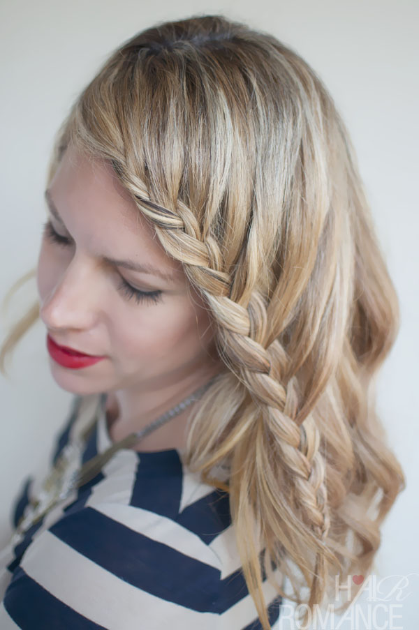 french lace fringe braid - stylish casual braided bangs