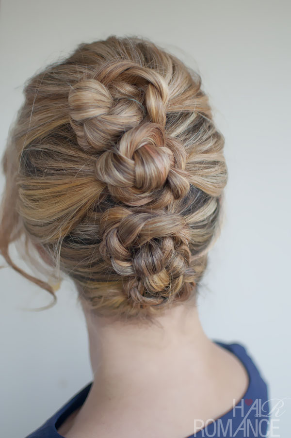 Braided French Roll Twist - Romantic French Twist Updo Hairstyle for