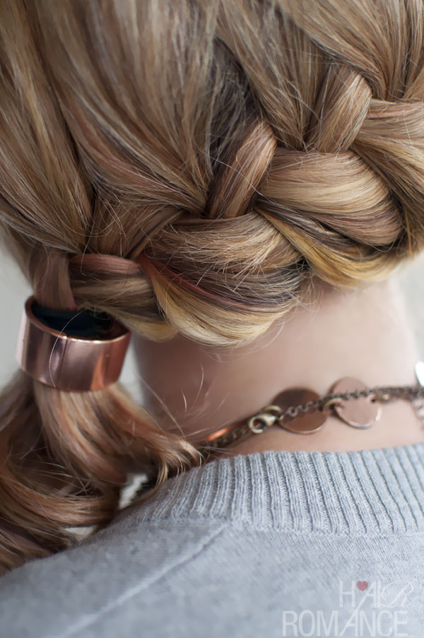 Quick Chic Side Ponytail French Braid Hairstyle For Long