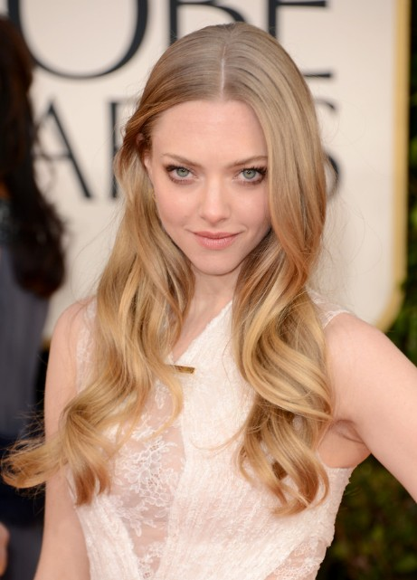 Golden Globe Awards 2013 Amanda Seyfried Center Parted Hairstyle Top 10 Women Hairstyles for 2013