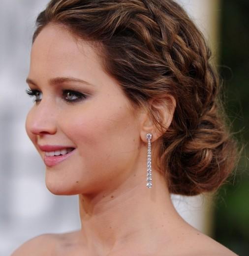 Fantastic Jennifer Lawrence Messy Braided Hairstyle 2013 Hairstyles Weekly Short Hairstyles Gunalazisus