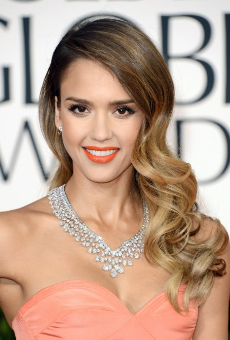Jessica Alba Long Wavy Hairstyle 2013 – 2013 Red Carpet Hairstyles