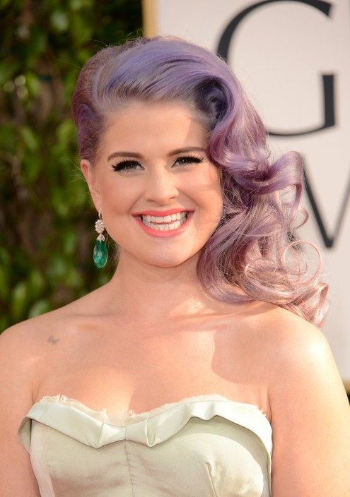 Kelly Osbourne Long Retro Curly Hairstyle 2013 - 2013 Red Carpet Hairstyles